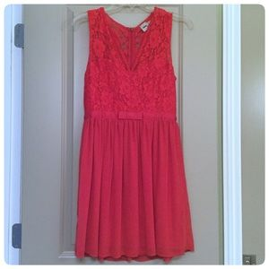 Fun & Flirty Red ASOS Lace Cocktail Dress